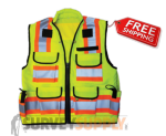 SitePro Premium Surveyor's Safety Vest - Class 2 - Flo.Yellow (#23-750)