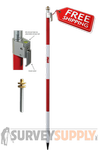 Seco One-Section QLV Prism Pole - 8.53 ft - Adjustable Tip - Dual Grad (#5801-10)