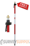 Seco One-Section Quick-Release Prism Pole - 8.53 ft - Adjustable Tip - Metric (#5720-10)