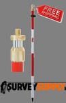 Seco One-Section Compression Lock Prism Pole - 8.53 ft - Adjustable Tip - Dual Grad (#5600-10)