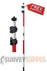 Seco Two-Section Ultralite Prism Pole - 11.81 ft - Adjustable Tip - Dual Grad (#5540-20)