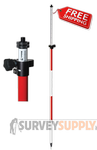 SitePro Two-Section Composite Prism Pole - 12 ft - Adjustable Tip - Dual Grad (#07-4112-TMA)
