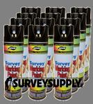 Aervoe Survey Marking Paint Case (12 cans) - Color: BLACK (#206)