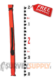 Crain 5.0 m CR Construction Series Fiberglass Leveling Rod - Philly Metric (#92043)