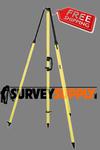 Seco Fixed-Height GPS Antenna Tripod w/ 2m Center Staff (#5115-00)