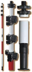 Ultralite 15 Three-Section Dual Grad Prism Pole w/ TLV Locking Mechanism (#5540-30)