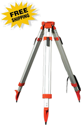 Crain Heavy-Duty Aluminum Square Leg Tripod, Quick Clamp - Flat Head (#5301-31)
