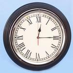 Black/Chrome Wall Clock 17""