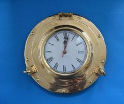 "Brass Porthole Clock 11"""