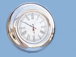 Chrome Round Clock 23""