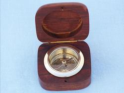 Rosewood Boxed Desk Compass 3""