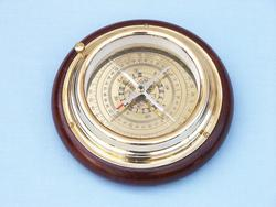 Brass Directional Desktop Compass 6""