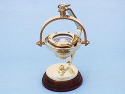 """Brass Hanging Compass 8"""""""