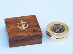 """Brass Paperweight Compass 3"""""""
