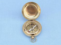 Brass Push Button Compass 2""