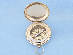 Captains Brass Pocket Compass 3""