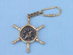 Wheel compass key chain
