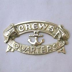 Crews Quarters Door Sign