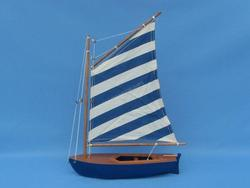 Blue Striped Sailboat 15""