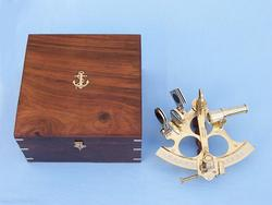 Captains Brass Sextant 9""