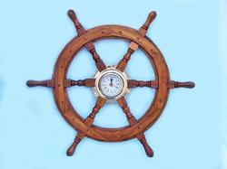 Ship Wheel Clock 24""
