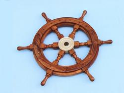 Wooden Ship Wheel 24""