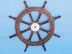 Wooden Ship Wheel 36""
