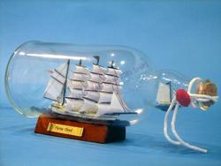 Flying Cloud Ship in a Bottle