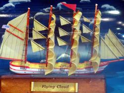 Flying Cloud Ship in Bottle w/Sky 11""