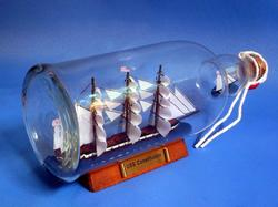 USS Constitution Ship in a Bottle 11""
