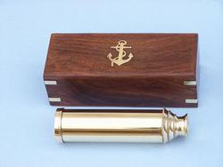 Captains Brass Spyglass 14""