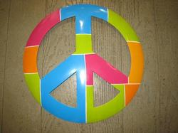 Metal Peace Wall Hangings