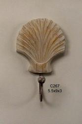 Scallop Shell Sgl Hook
