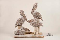 Antique Nautical Pelican Club