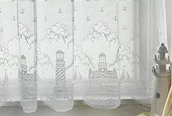 Lighthouse Curtain: 60x24 Tier