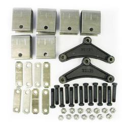 2K-7K Tandem Axle Hanger Kit - Double Eye Springs