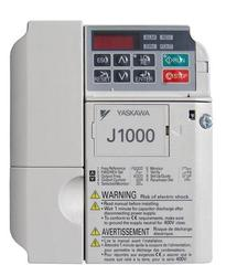 1/2 HP Yaskawa VFD Normal Duty J1000 Protected Chassis 1 Phase CIMR-JUBA0003BAA