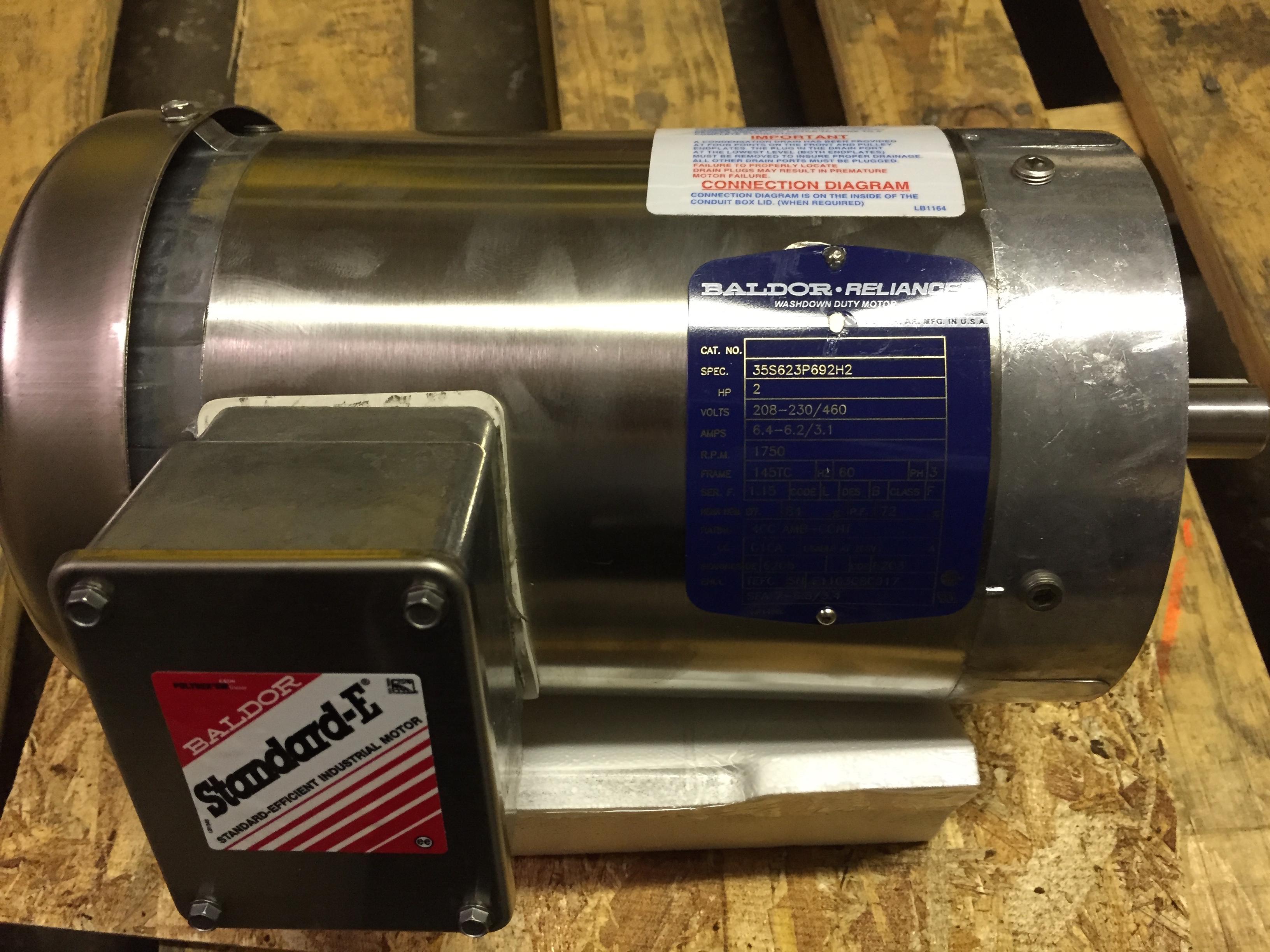2 Hp Baldor Motor 1800 Rpm Willier Electric Wiring Diagram 145tc Frame Tefc