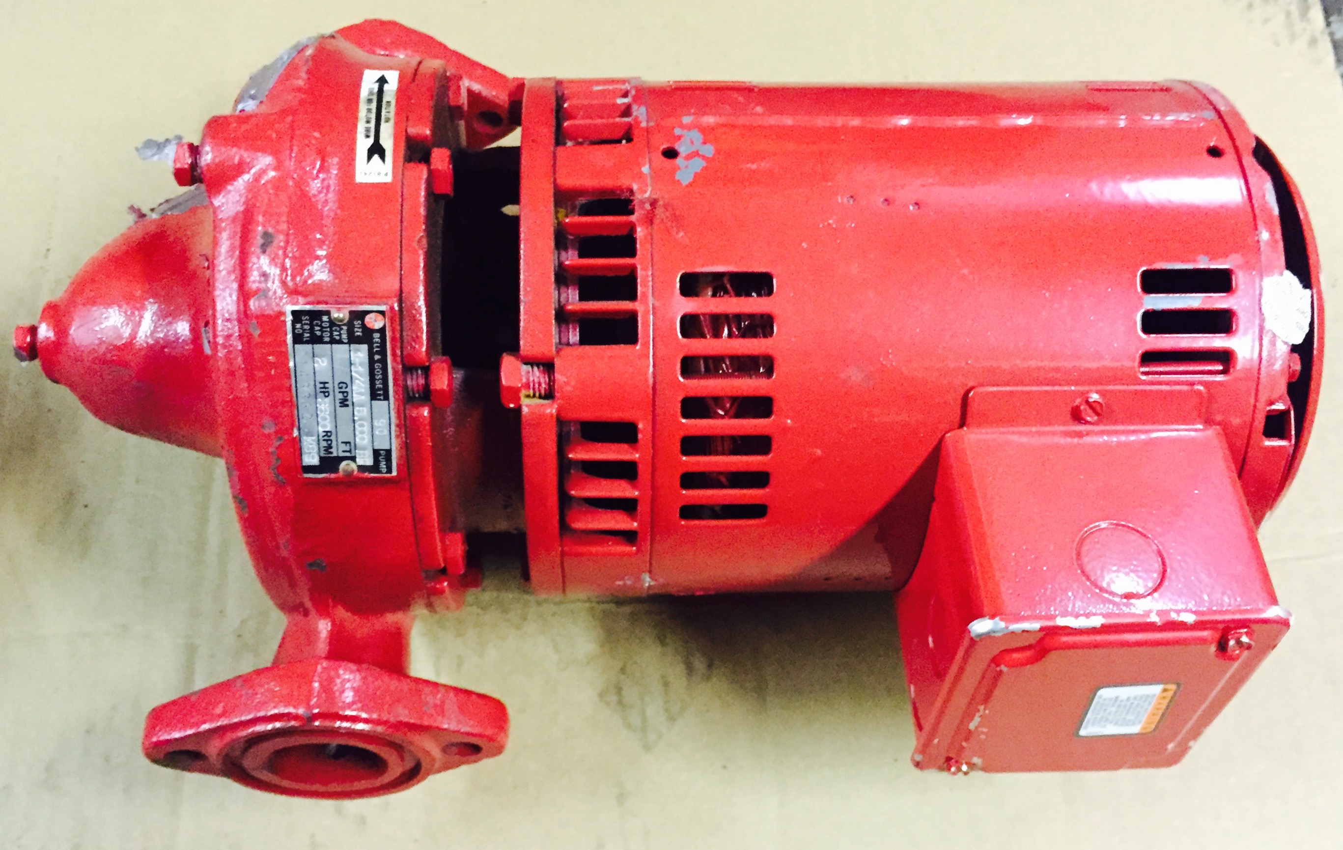 2 Hp Bell Gossett Motor And Pump Willier Electric