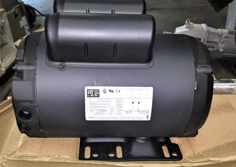 5 HP WEG Air Compressor 00536OS1CCDG56HZ Willier Electric