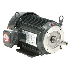 7 1/2 HP US Motors Close Coupled Pump Motor 1800 RPM 213JM Frame TEFC with Removable Base