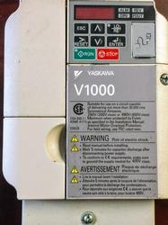 5 HP Yaskawa VFD Normal Duty V1000 Nema 1 Enclosure 3 Phase CIMR-VU4A0009FAA