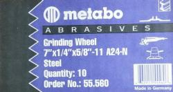 "Metabo 7"" X 1/4"" X 5/8""-11 Type 27 Grinding Wheel A24N"