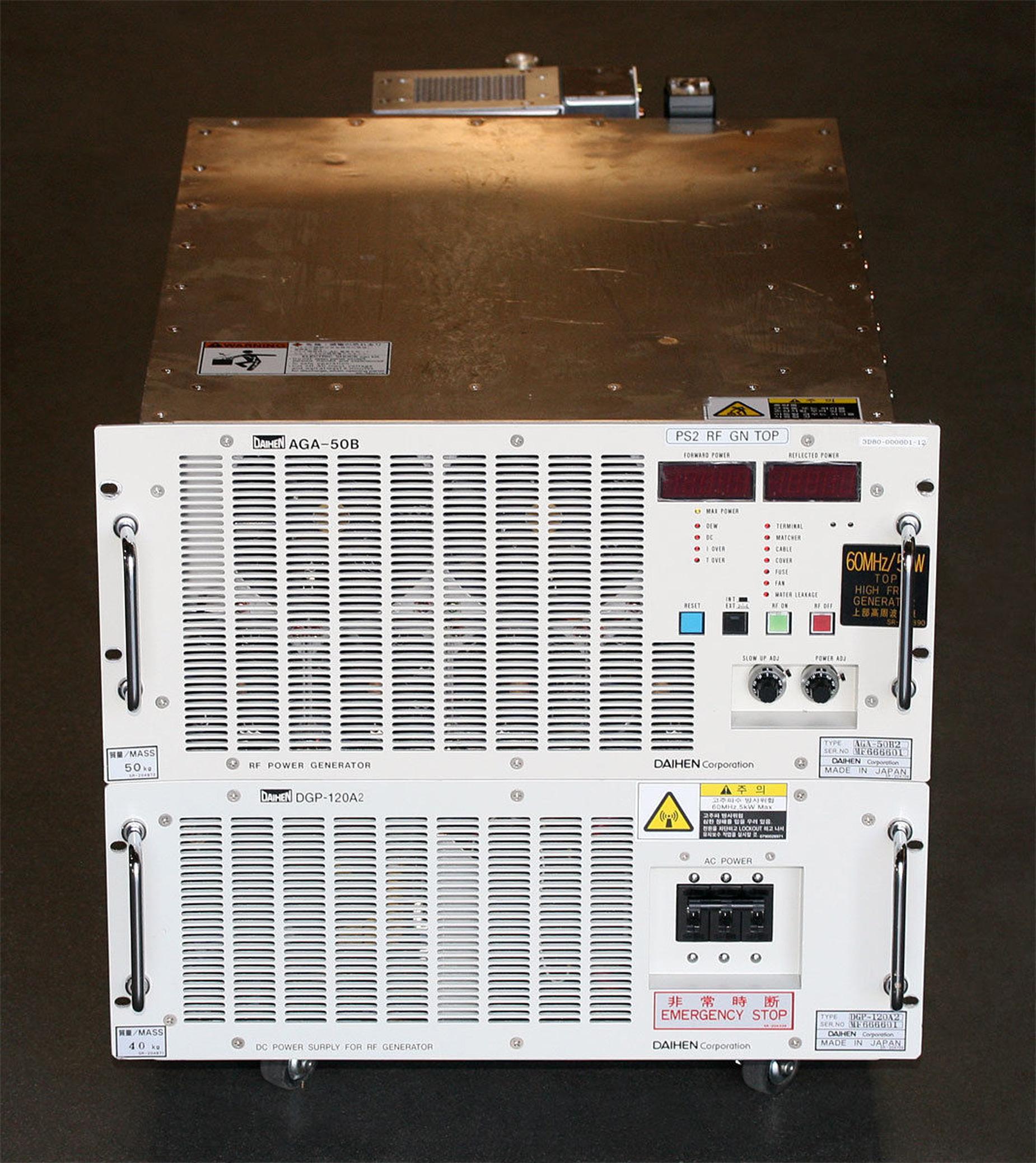DAIHEN AGA 50B RF Power Generator with DGP 120A2 DC Power Supply