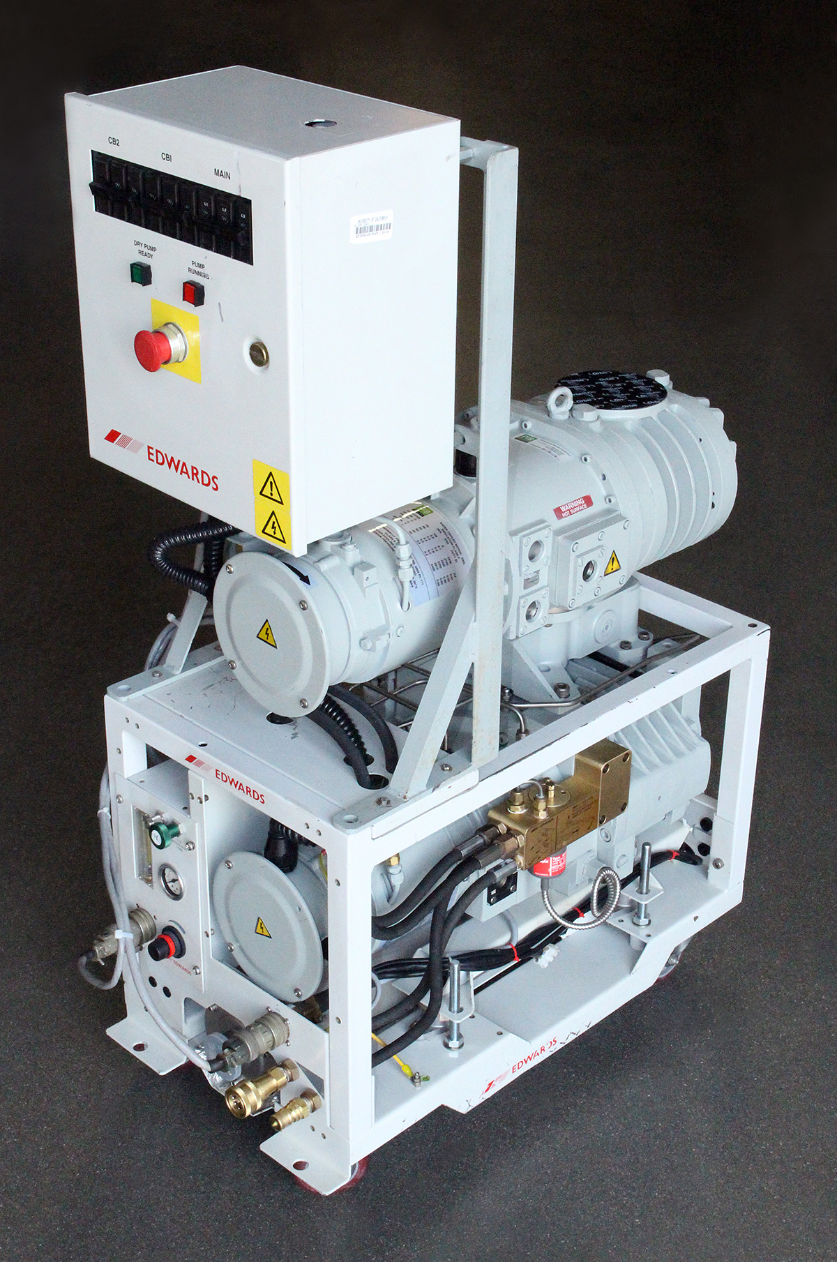 Vacuum And Blower Systems : Edwards qdp qmb vacuum blower system rebuilt