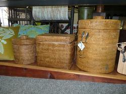 Woven Ice Bucket and Insulated Chests with Tongs