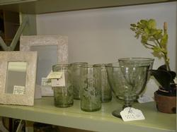 Frames, Hummingbird Etched Glassware, Silk Orchid