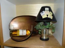 Wine Labels and Grapes Lamp