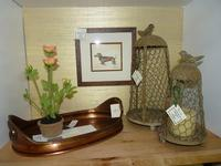 Dog Print, Copper Tray, Candle Bird Cages