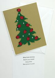 Ladybug Christmas Tree Card
